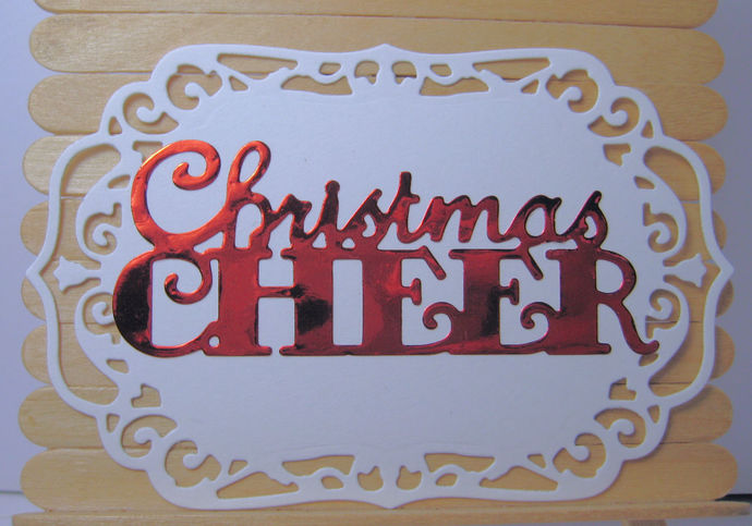 Christmas Cheer Metal Cutting Die Holiday Word Die Cuts