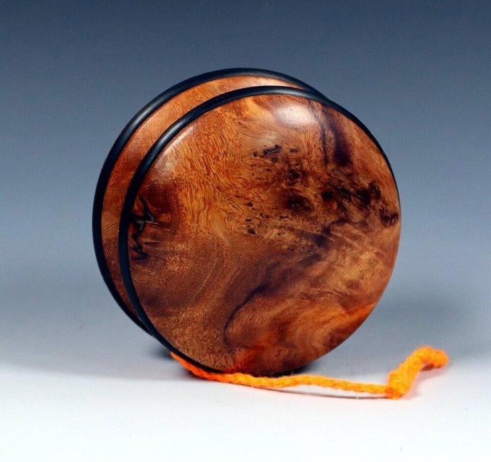Exotic Asian Ironwood Burl Handmade Yo-Yo