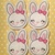 Sweet Bunny Feltie 4 pc set UNCUT