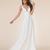 2020 Summer Beach Wedding Dresses A Line V Neck Satin Button Back Custom Made