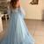 Sky Blue Bridal Dresses 2020 Latest A-line Backless Bohemian Country Wedding