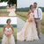 Modest Blush Pink Country Wedding Dresses with Ruffles Skirt Sweetheart Lace