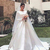 2020 Modest Satin Bateau Neck Long Sleeves Wedding Dresses Sweep Train Plus Size