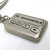 90s Motorola Pager Shaped 3D Double Sided Silver Metal Keychain / Key Ring -