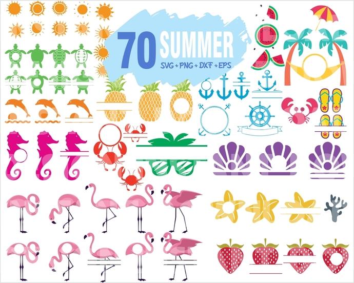 70 Summer Svg Bundle Bundle Svg File Summer By Gloryart On Zibbet