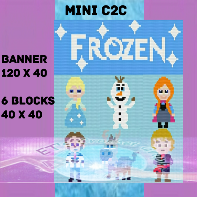 Frozen Mini C2C Bundle 7 Patterns