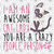 I am awesome cat lady you are a crayzy people person, cat person, person svg,