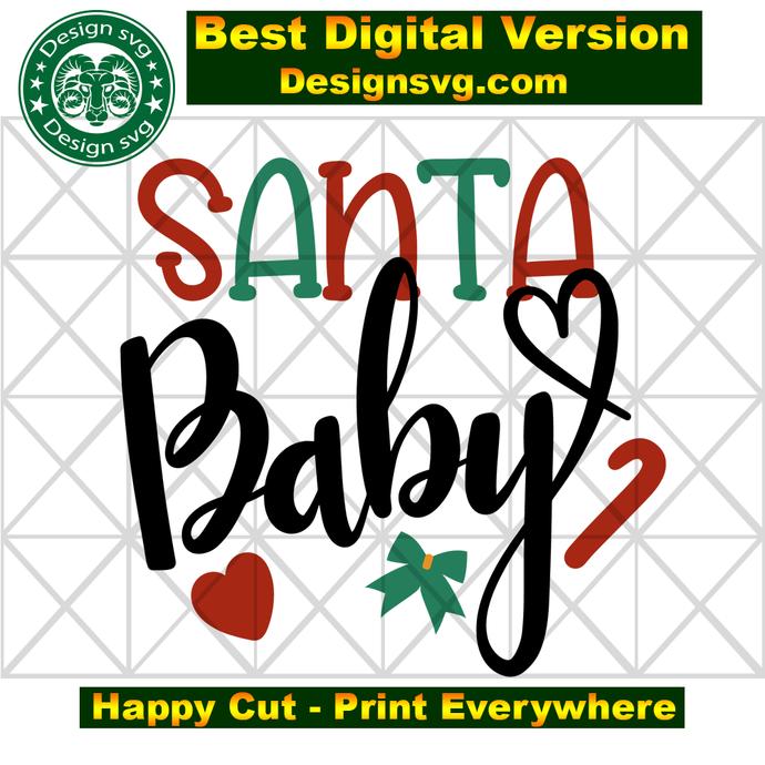 Santa baby, santa svg, santa gift, love santa, baby svg, santa hat,  santa baby