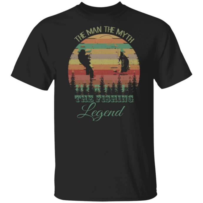 The Man The Myth The Fishing Legend Vintage Men Tshirt