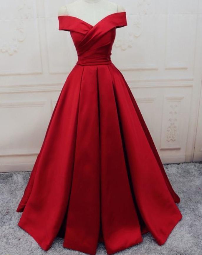 Ruffles Evening Dresses, A-line/Princess Prom Dresses, Long Party Dresses,