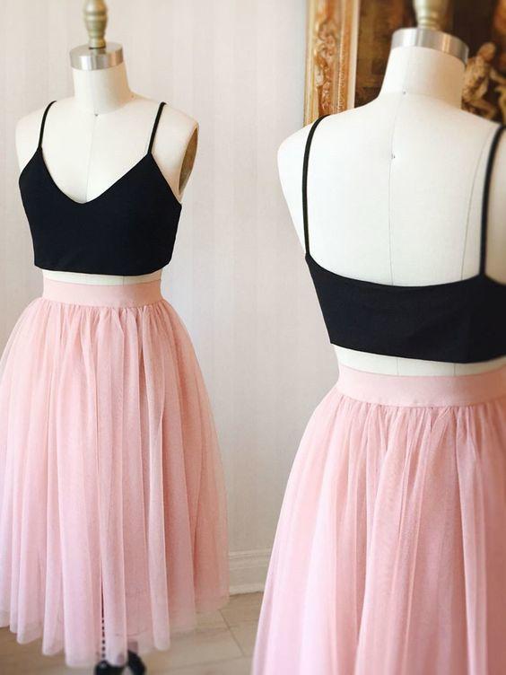 Cute Pink Knee Length Tulle Skirt