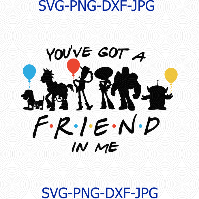 You've got a Friend in Me, Disney Inspired Toy Story Friends High Resolution,