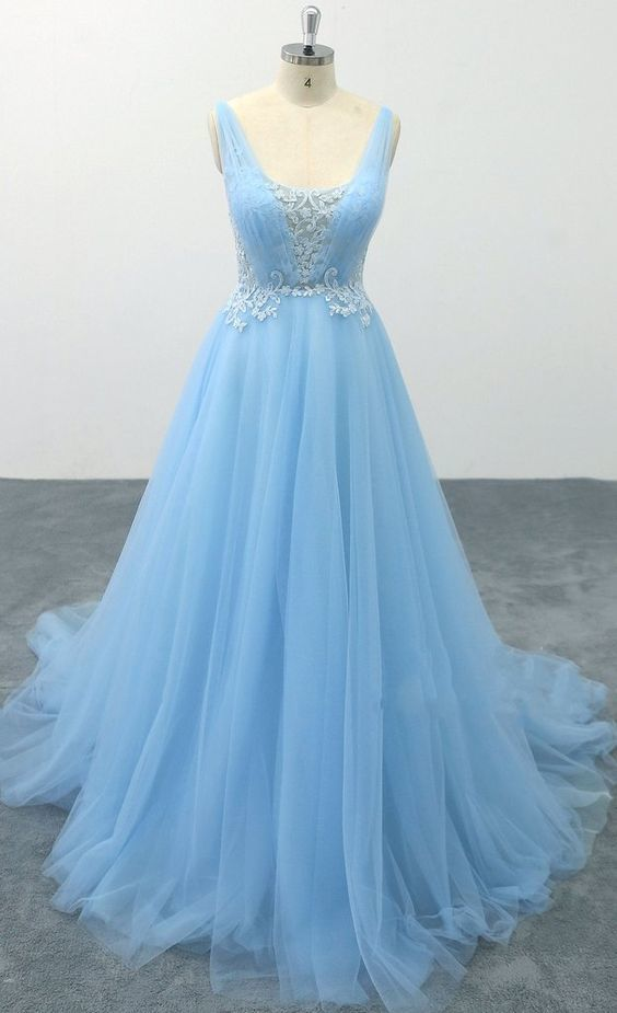 Open Back Lace/Tulle Long Prom Dress 8th Graduation Dress Custom-made Wedding