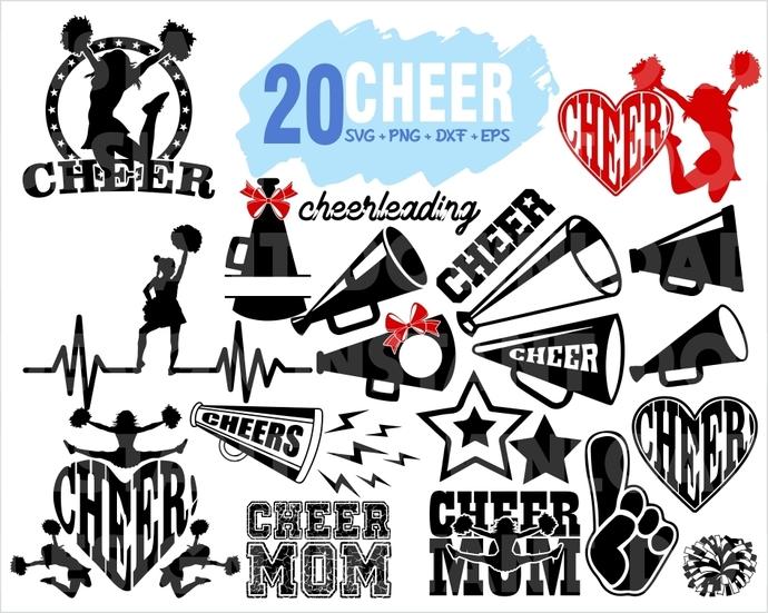 Cheer Svg Bundle Pom Pom Svg Cheer Mom Svg By Gloryart On Zibbet