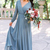2020 Bohemia V Neck Chiffon Long Bridesmaid Dresses Long Sleeves Ruched Floor