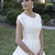 Vintage Simple A-line Satin Modest Wedding Dresses With Cap Sleeves Puffy