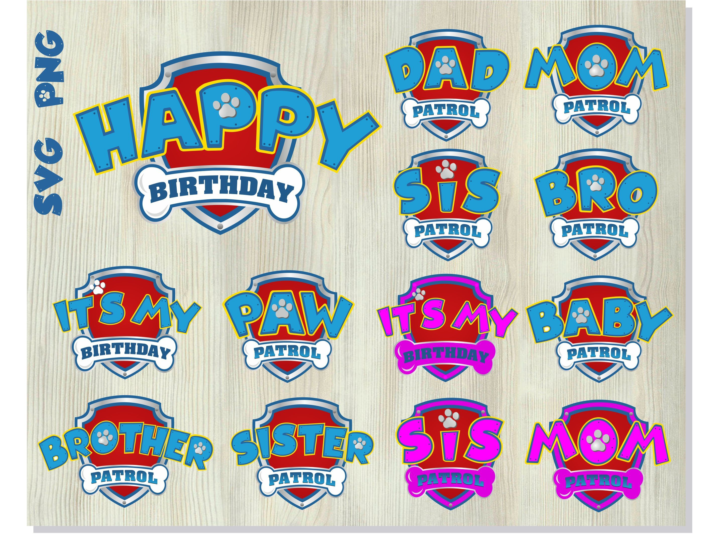 Paw Patrol Birthday Svg Png Paw Patrol Logo By Hotfont On Zibbet