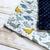 Sweet Dinos & Medieval Bleu Dimple Lovey Blanket