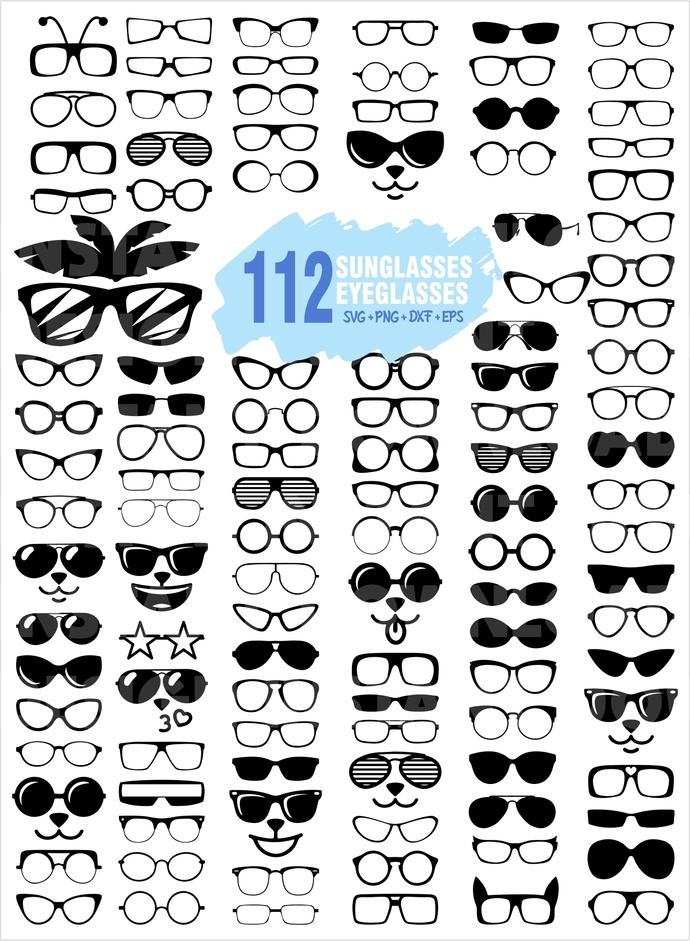 EYEGLASSES SVG / Sunglasses SVG / Sun glass clipart, eye svg, glasses clipart,