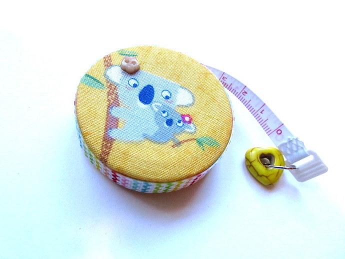 Measuring Tape Koalas on Yellow Small Retractable Tape Measure