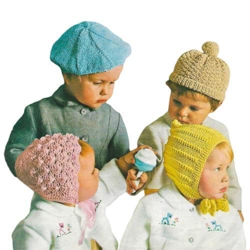 Instant PDF Digital Download Vintage Knitting Pattern Children's