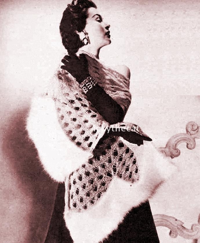 PDF Digital Download Vintage 1950s Knitting Pattern Ladies Women's  Easy Stole