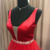 Red Prom Dress,Satin Prom Gown,A-Line Evening Dress,V-Neck Prom Gown 0109