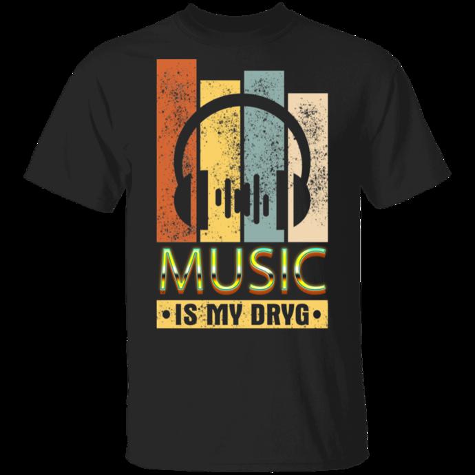 Music Is My Drug DJ Headphone Men Tshirt
