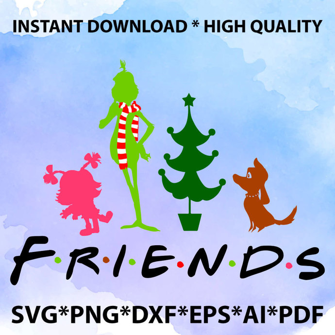Christmas Friends SVG, Christmas Movie Characters SVG, Christmas, Grinch SVG,