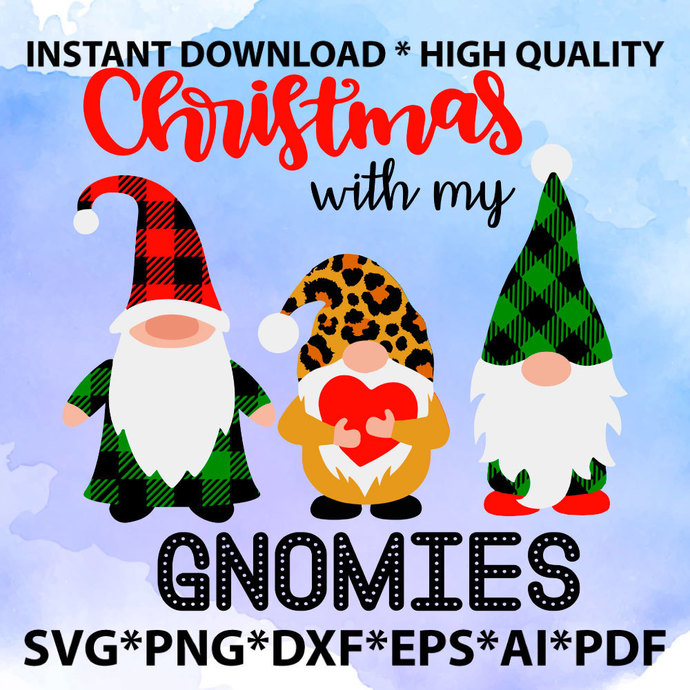 Home Sweet Gnome SVG - Christmas Gnome SVG - Holiday Christmas SVG Clipart