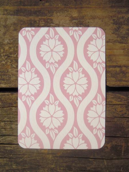 Set of 8 blank Flat notecards with a floral design