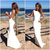 Hot Simple Stain Beach holiday Wedding Dresses 2020 Jewel Neck Full Length