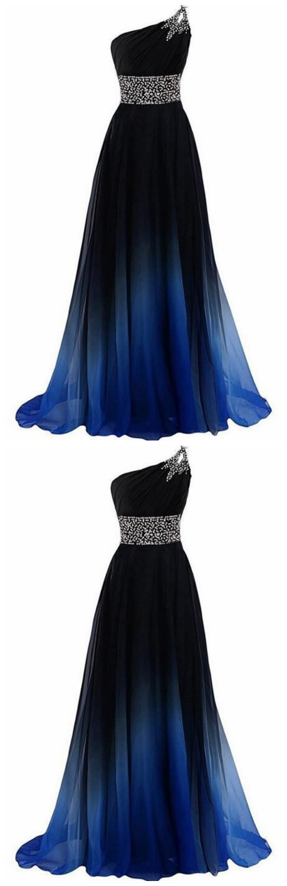 New Arrival One Shoulder Beaded Long Prom Dress Custom Made Women Party Gowns