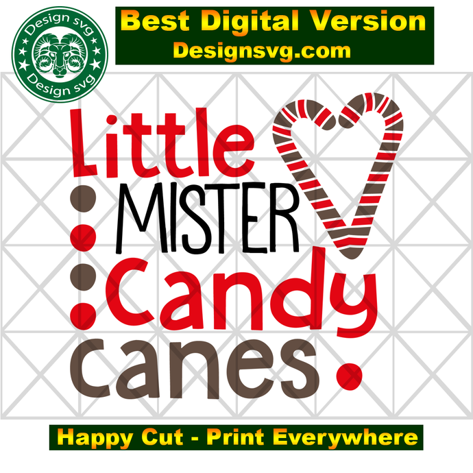Little mister candy canes,candy cane gift, christmas svg, christmas gift, funny