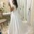 Sexy Open Back Cap Short Sleeve Prom Dresses 2020 Long Elegant White A Line