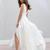 New Summer Beach Boho Wedding Dresses A Line Sexy V Neck Split Long Chiffon