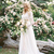 New Romantic Two Pieces Bohemian Wedding Dresses Long Sleeves Lace Crop Top