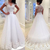 Holy Pure White A Line Wedding Dresses Sheer Cap Sleeves Appliques Sequined