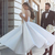 New 2020 Tea Length Wedding Dresses A Line Spaghetti Straps Backless Short