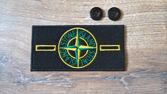 Stone Island patch Classic with two buttons