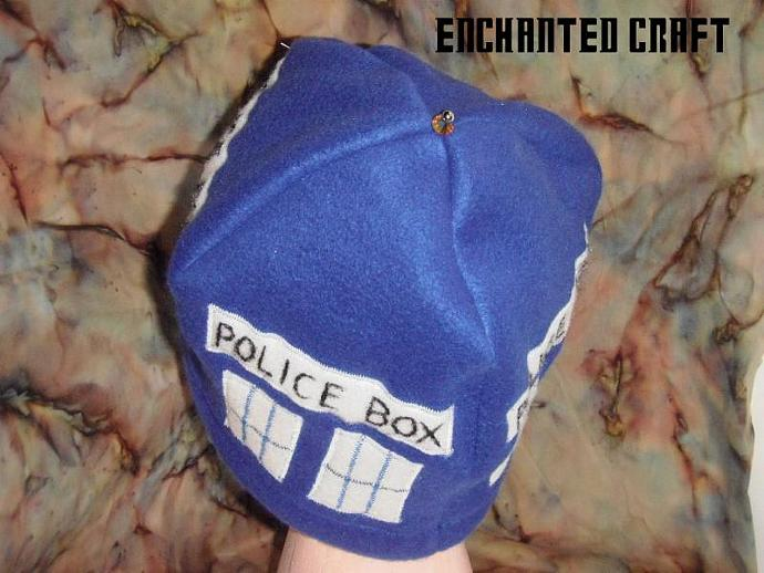 Warm and soft Fleece Dr Who? TarDiS beanie hat