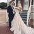 Champagne Wedding Dresses 2020 New Arrival Vintage Long Sleeve Appliques V Neck