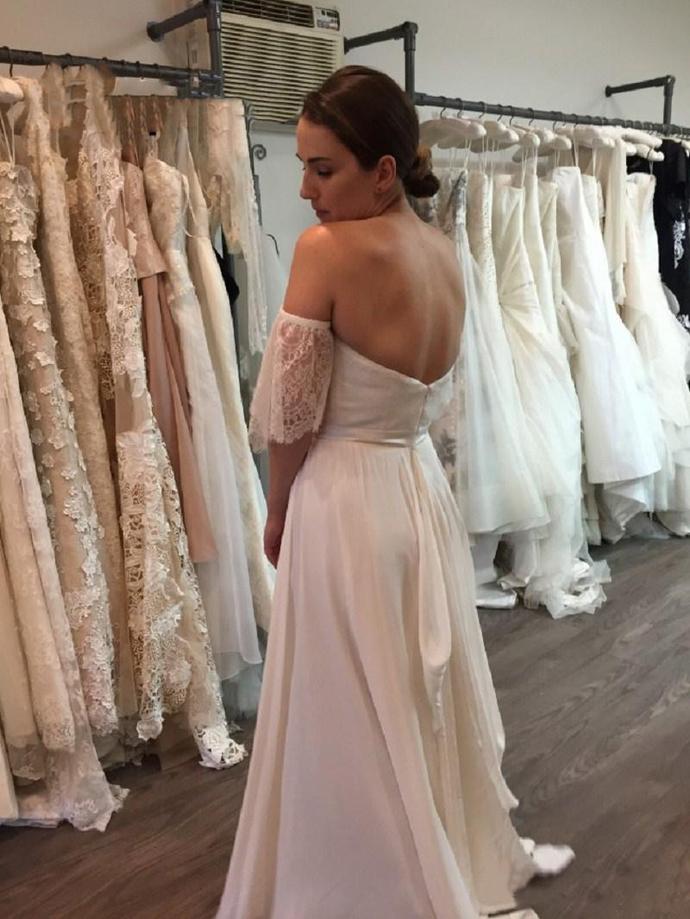 2020 Simple Bohemian Wedding Dresses Western Garden Forest Bride Wedding Gowns