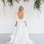 Simple Designed 3/4 Long Sleeve Boho Wedding Dresses A Line Scoop Neckline
