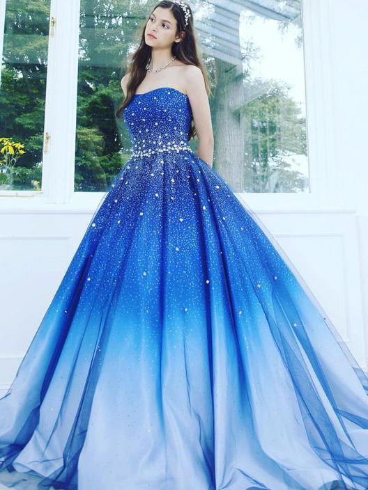 Beautiful Prom Dresses Sweetheart Sweep/Brush Train Ball Gown Prom Dress/Evening
