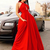 Sexy Halter Red A Line Prom Dresses, Sexy Red Long Evening Dresses