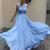 Sexy Simple A Line Prom Dresses, Blue Long Evening Dresses, Chiffon Bridesmaid