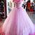 Custom Made Off Shoulder Tulle Pink Ball Gown Prom Dresses, Pink Quinceanera
