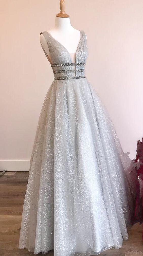 Shiny Prom Dresses Wedding Party Dresses