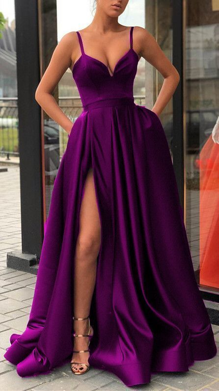 purple prom dresses,purple evening gowns,long prom dresses